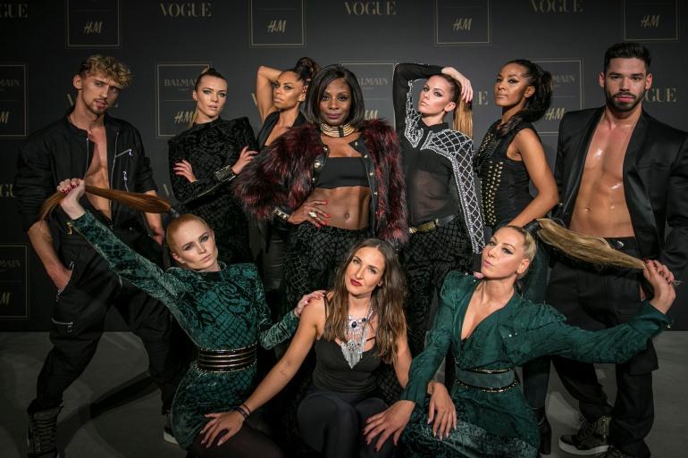 BALMAIN x H&M Styling Dancers